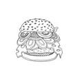 hand drawn of hamburger vector image vector image