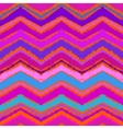 Hand drawn zigzag pattern in bright pink vector image vector image