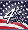 happy independence day united states america vector image