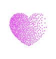 heart pink dots small dots and confetti vector image vector image