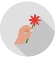 Holding Flower vector image