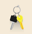 house and car key icons real estate and car rent vector image