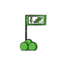 informative road sign icon vector image vector image