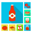 isolated object vegetable and delicious logo vector image