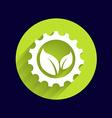 leaves gear icon button logo symbol concept vector image vector image