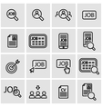 line job search icon set vector image vector image