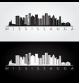 mississauga skyline and landmarks silhouette vector image vector image