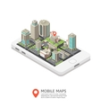Mobile Maps Isometric Design vector image vector image