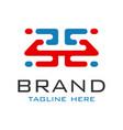 monogram logo design letter h vector image vector image
