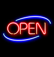 neon open sign vector image vector image