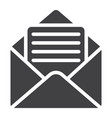 open mail glyph icon web and mobile open letter vector image