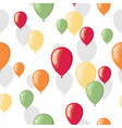 party flat balloons pattern vector image