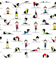 People practicing yoga seamless background for you