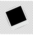 photo frame on isolated background vector image