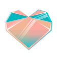 polygonal multicolored crystal heart isolated on vector image vector image