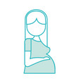pregnant woman avatar character vector image