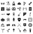 Proceeding icons set simple style