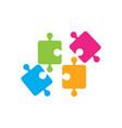 puzzle design vector image vector image