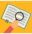 Reading book flat concept vector image
