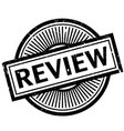 review rubber stamp vector image vector image