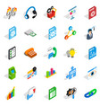 right icons set isometric style vector image vector image