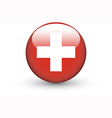 Round icon with national flag of Switzerland vector image vector image