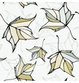 Seamless pattern with stylized decorative leaves vector image vector image