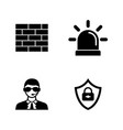 security safety simple related icons vector image vector image