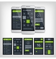 set mobile user aplication interface template vector image vector image