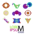 Set of logo icons Abstract colorful logotype vector image vector image