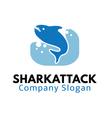 Shark Attack Design vector image vector image