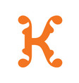sign of the letter k vector image vector image