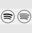 spotify logo in line art style vector image