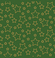 stars seamless pattern background green and gold vector image vector image