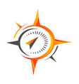 stylish flat creative compass logo design concept vector image vector image