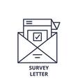 survey letter line icon concept survey letter vector image