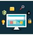 technology data digital security design vector image