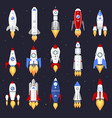 technology ship rocket cartoon design vector image vector image