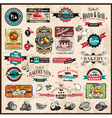 Vintage Restaurant Icons vector image vector image