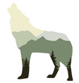 wolf wild animal vector image vector image