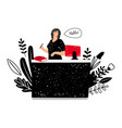 woman administrator at work vector image vector image