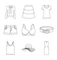 woman and clothing logo vector image vector image