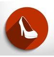 woman boots web icon vector image vector image