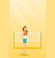 young caucasian beach volleyball player vector image vector image
