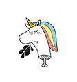 dead unicorn icon isolated on white background vector image