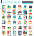 electronic devices and gadgets complex flat vector image