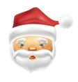 Face of Santa Claus in vector image