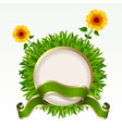frame with grass vector image