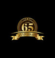 65th years anniversary logo template design