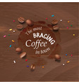 a coffee stain streaks vector image vector image